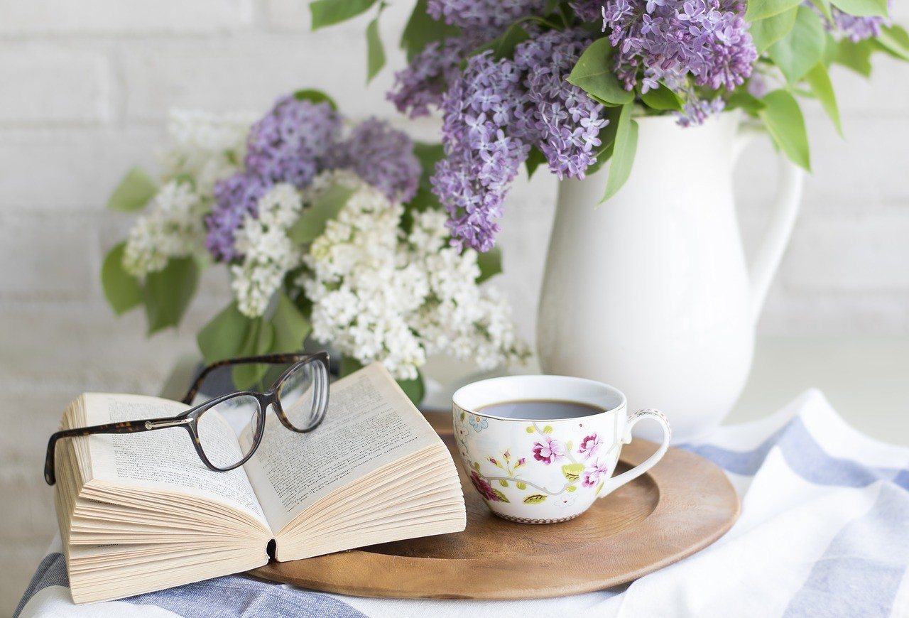 Coffee Book & Flowers