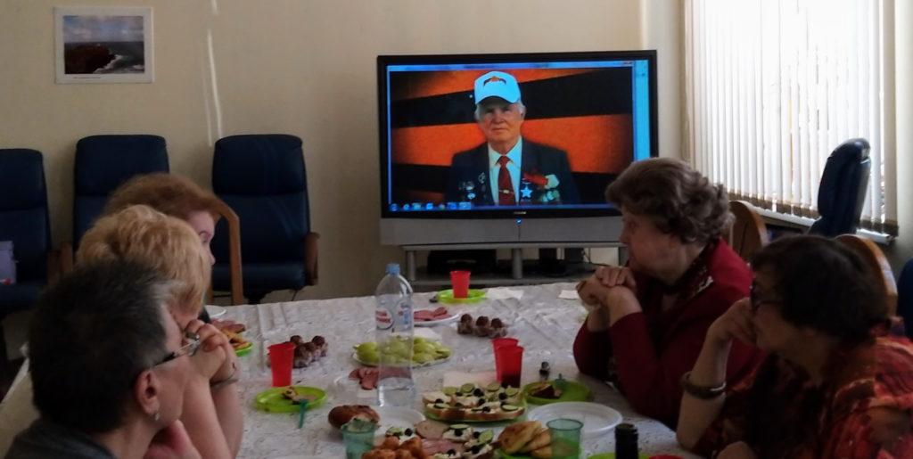 Заседание клуба «Ветеранская среда» накануне Дня Победы.